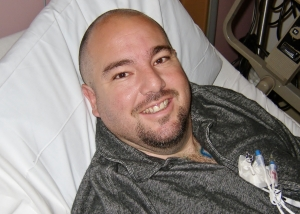 Matt - One of his first days in the hospital