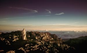 Woman shroud hilltop